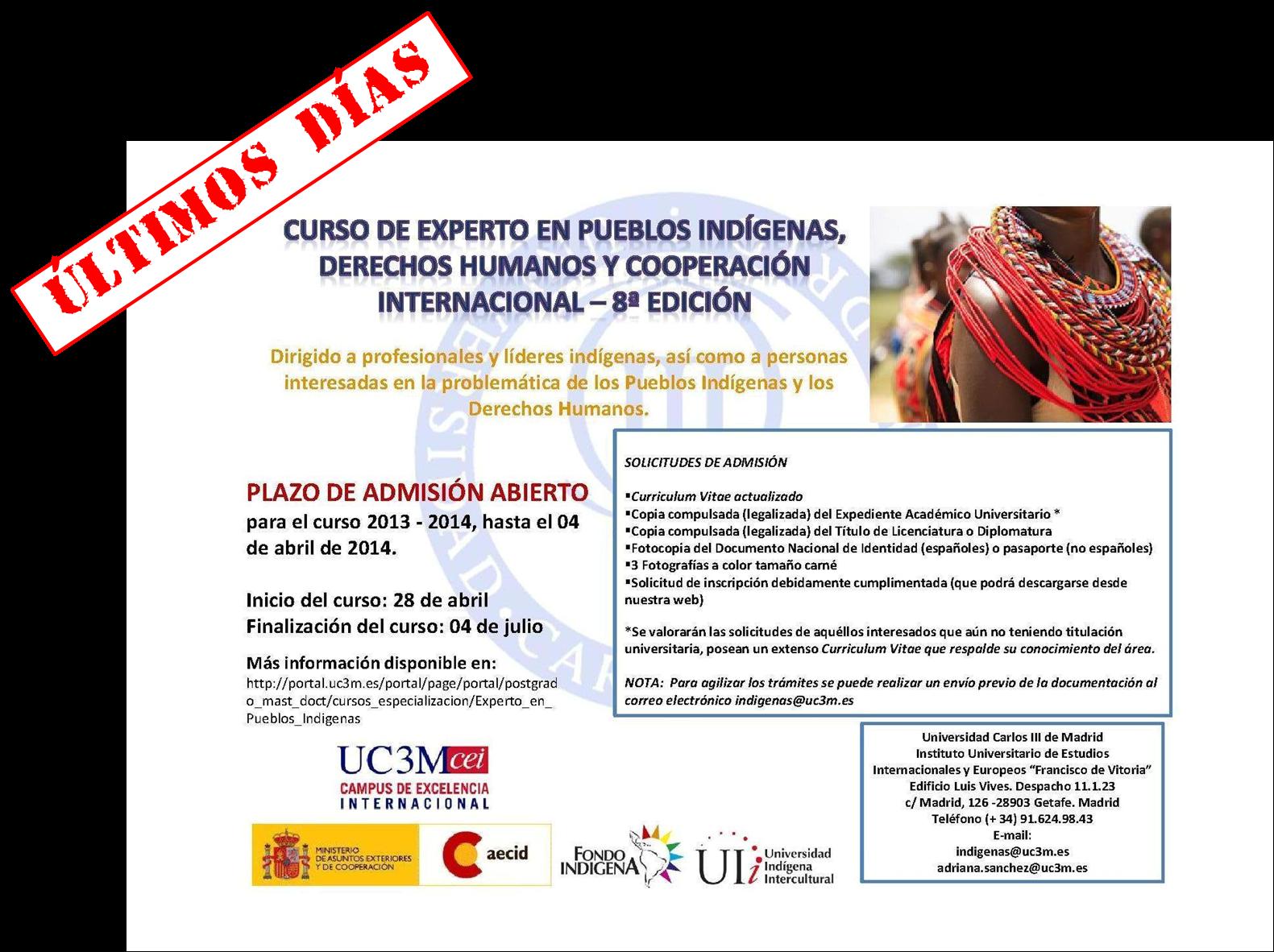 Experto en Pueblos Indígenas, Derechos Humanos y Cooperación ...