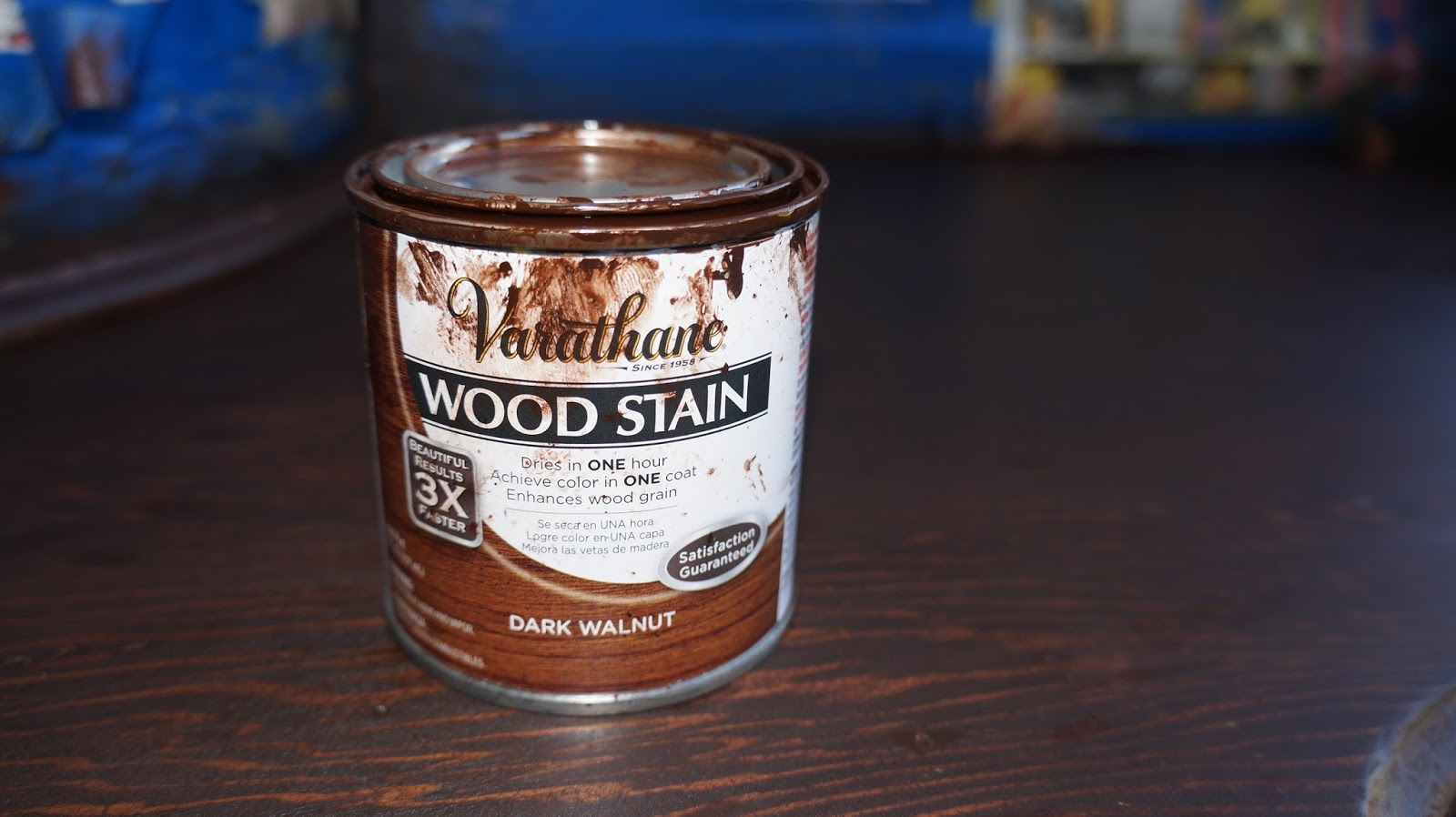 Then I Stained It Again Over The Existing Stain With Varathane Dark Walnut Color Really Vanity Top To Look Very Much Like Chocolate