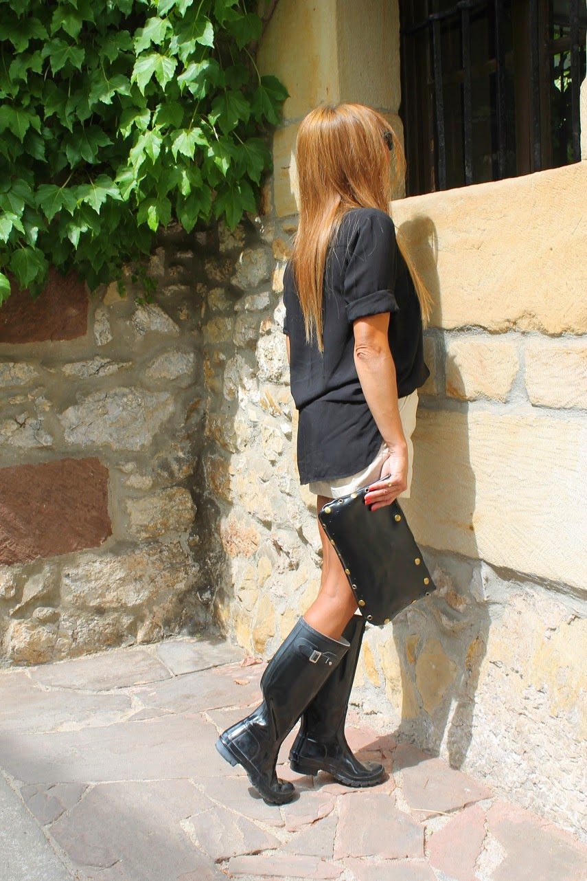 Liu.Jo, Hunter, Look, Marimorena, Comillas, Street Style, Look, Fashion Style, Skirt, Boots, Carmen Hummer