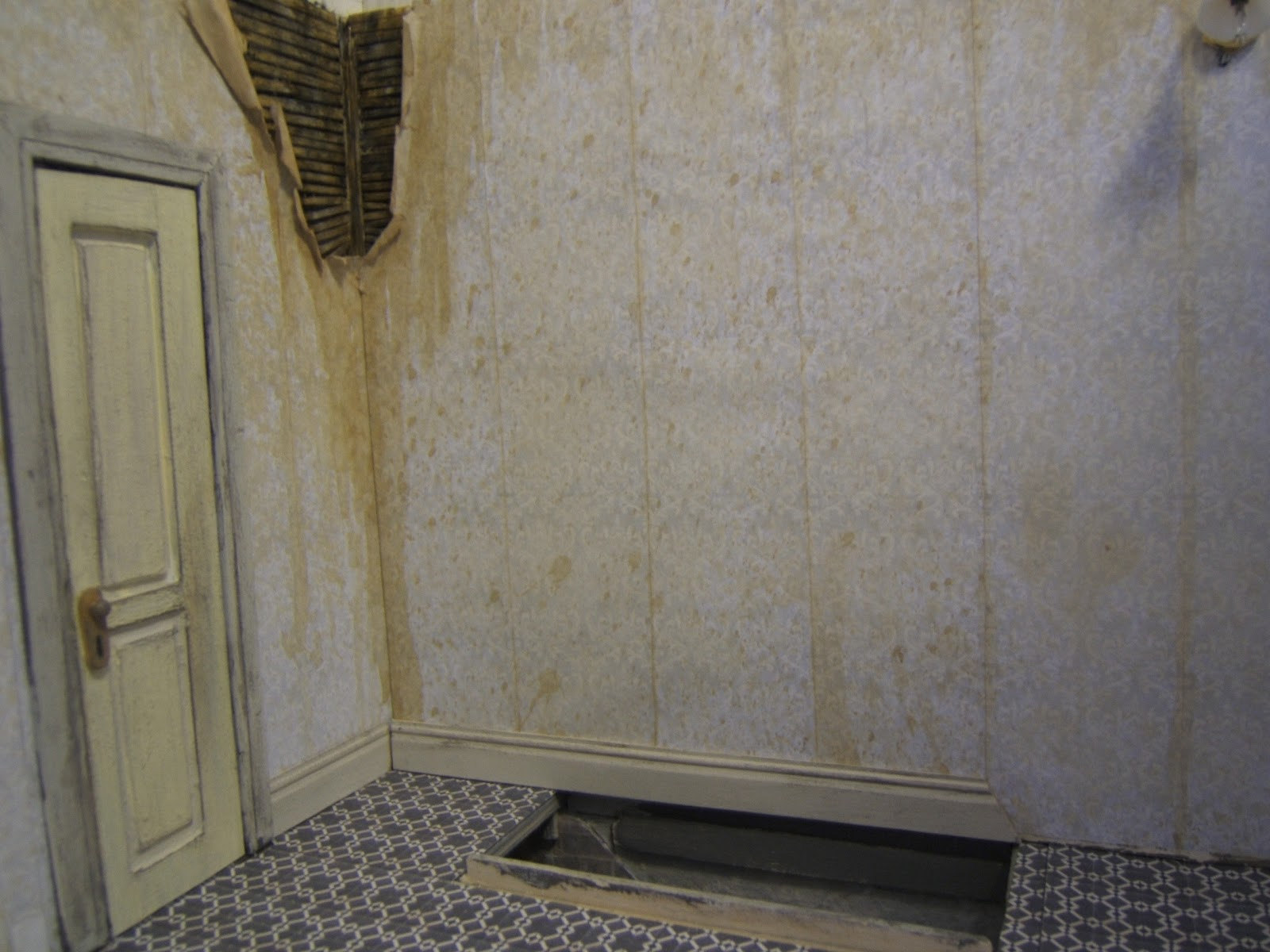 wallpaper for hall walls make mine mini hallway and stairs done