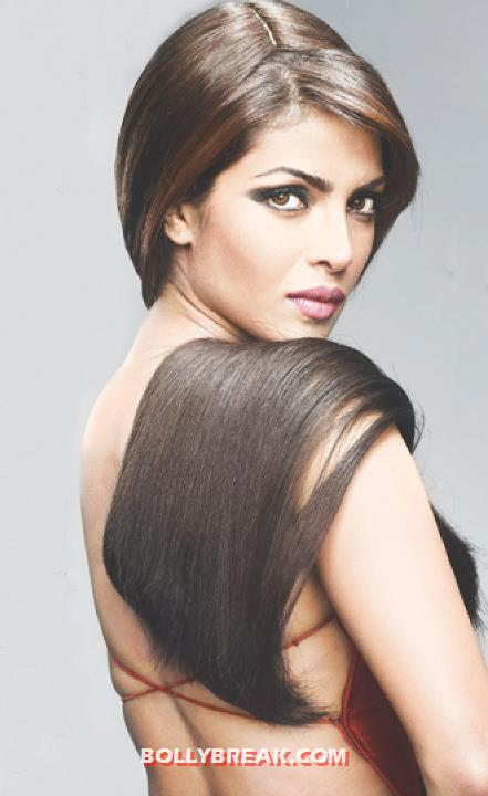 Priyanka Chopra Backless - With Long hair on her shoulders  - Priyanka Chopra Backless Photo - : Latest August 2012