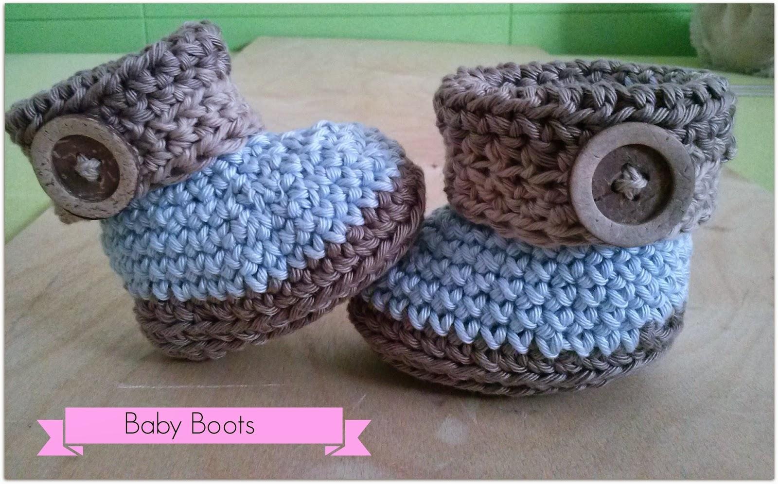 Happy Ganchillo : Crochet baby booties!