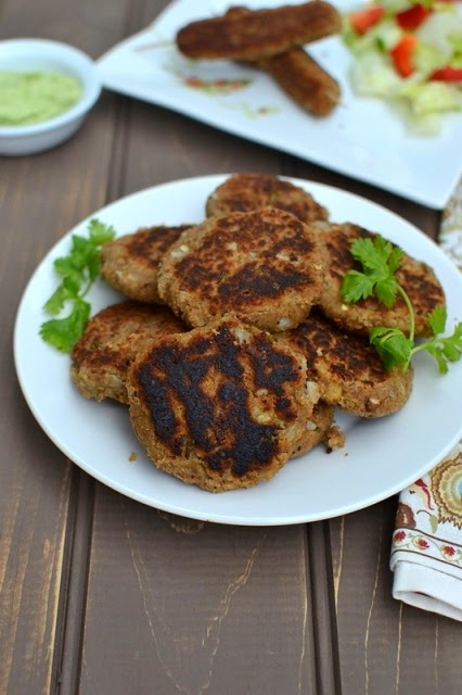 Chana Dal Kebabs (Vegetarian Kebabs with Chickpeas)