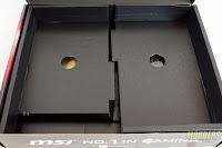 Kardus MSI B150A Gaming PRO (Bagian Dalam dengan Isi)