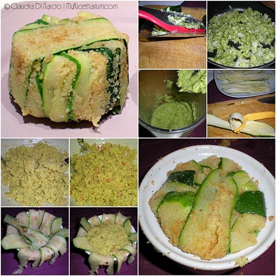 Mini timballo di cous cous con zucchine