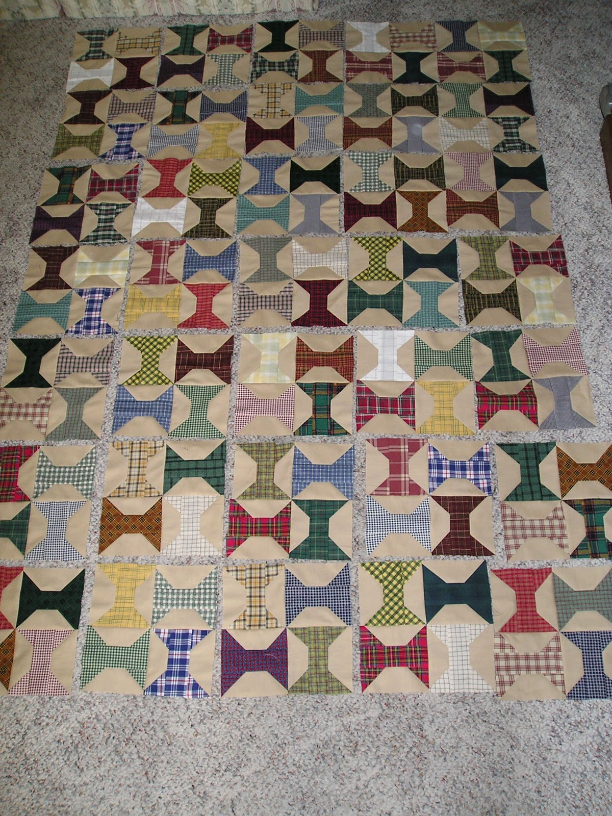 After a good pressing, the blocks were arranged on the living-room  title=