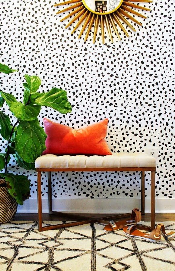 mezclar patrones prints rayas y puntos decoracion