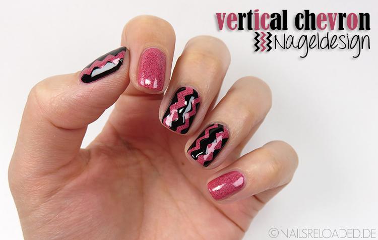 Tutorial nageldesign vertical chevron nails reloaded for Nageldesign tutorial