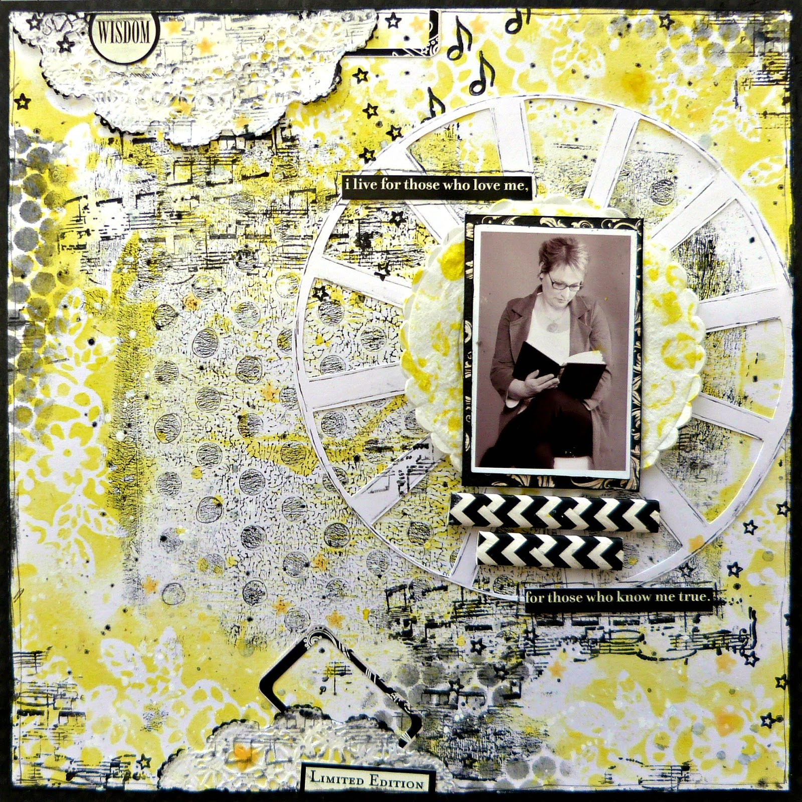 Wisdom Scrapbook Page Tracee Provis Mixed Media Place creative gym exercise 1