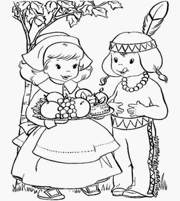 Free Printable Cornucopia Coloring Pages