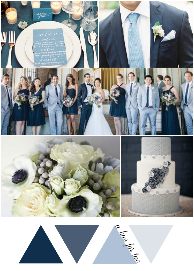 Shades of Blue Vintage Wedding Colour Scheme | A Hue For Two