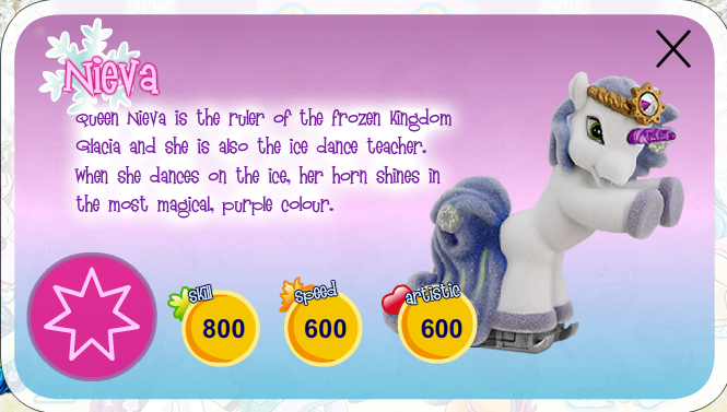 toy bio of the filly ice unicorn queen nieva