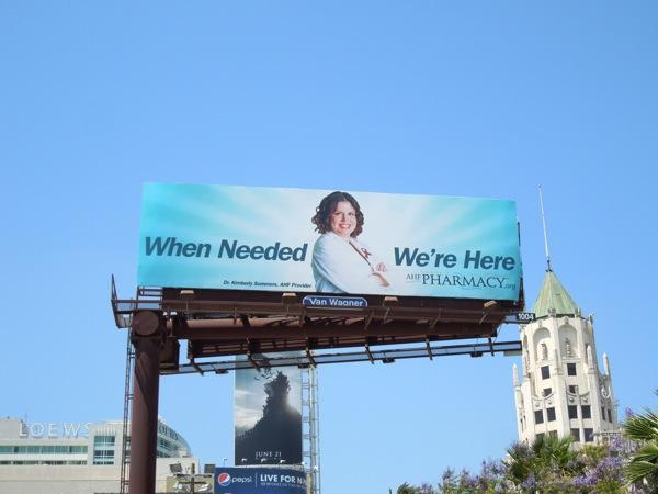 AHF Pharmacy blue billboard