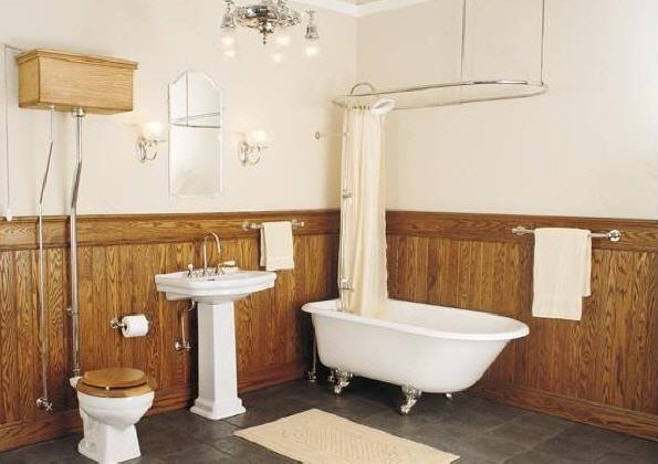 Ba os modernos ba o antiguo siglo xx - Muebles antiguos para banos ...