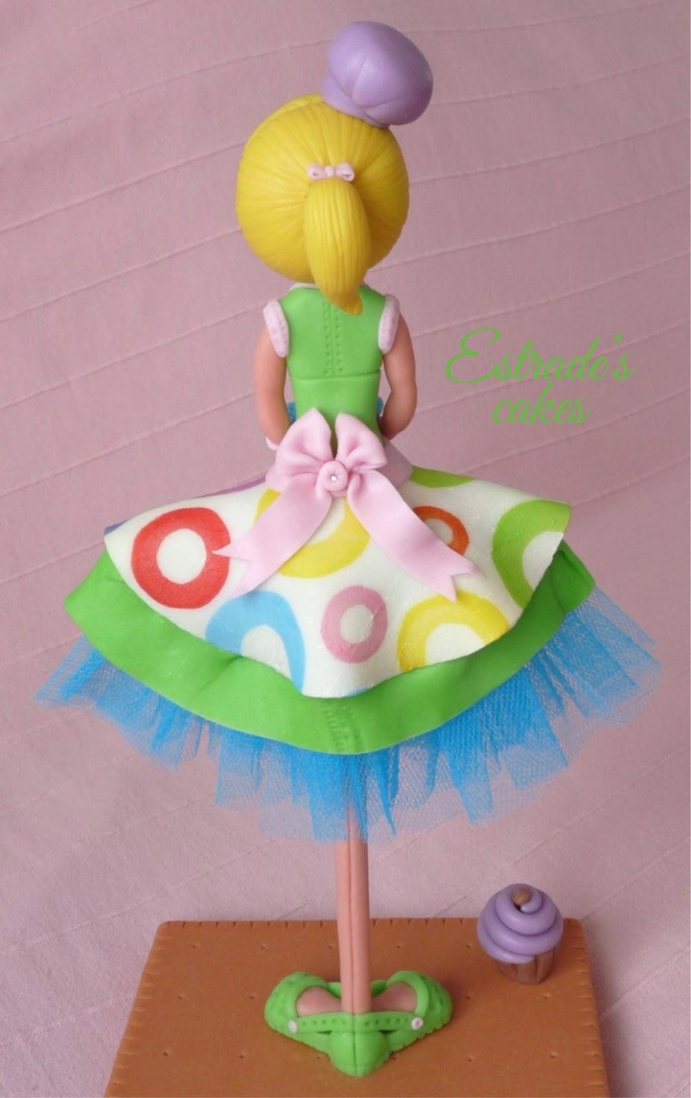 muñeca alta pastelera en porcelana fría - 3