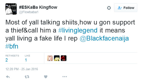 "Blackface Returns Paul Okoye's Serve, Calls Him ""Coycat Defender"" (Screenshots)"