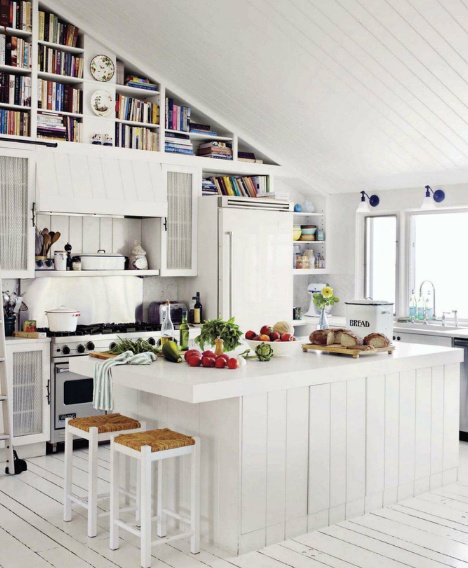 Cottage Kitchen Flooring Continued: 50 Plus White Kitchens