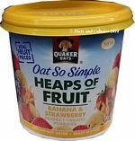 Quaker oat so simple banana and strawberry