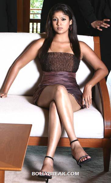 Nayanthara sitting cross leged - thigh show - (4) - Nayanthara Hot Pics