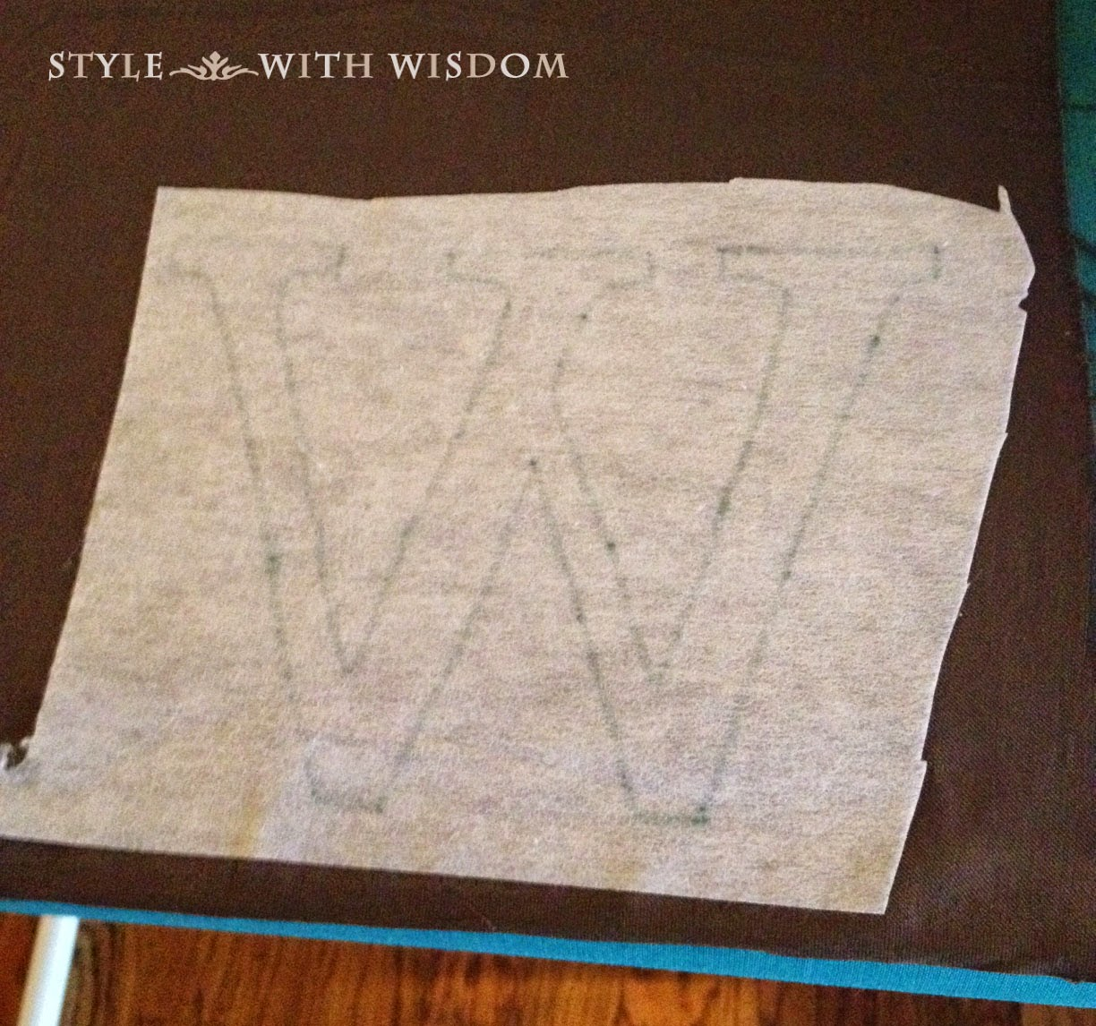 monogram applique tutorial fusible interfacing