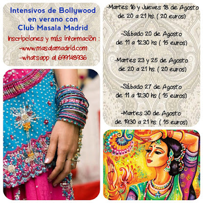 Intensivos de Bollywood en verano con Club Masala Madrid