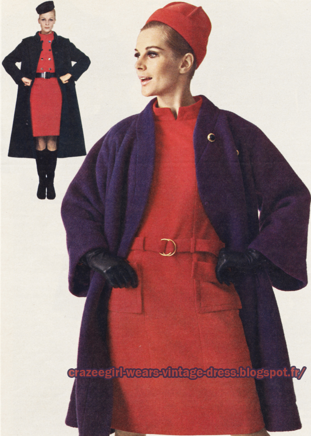 coat dress 1966  Christian Dior Maggy Rouff 60s 1960