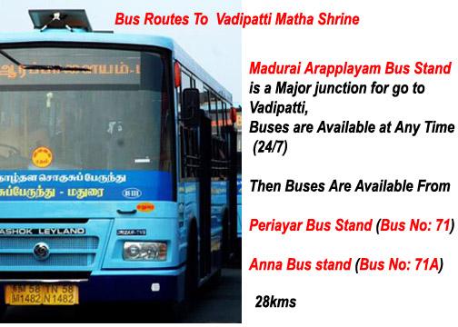 Bus Route to vadipatti