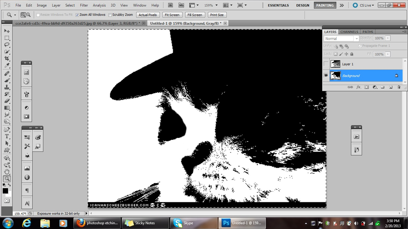 how to turn off greyscale photoshop