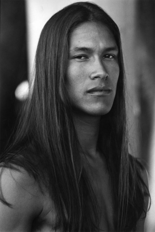 Native American Men with Long Hair