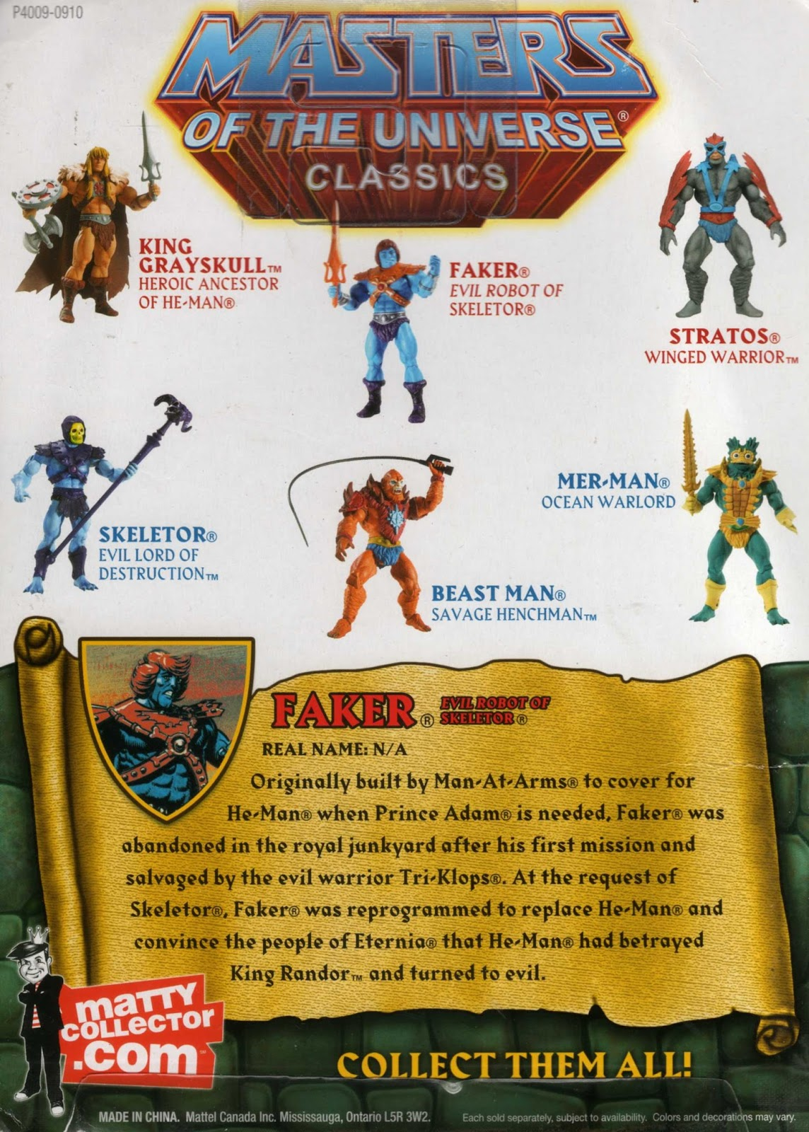 TRI KLOPS-Masters of the Universe-Maîtres de l/'Universe Loyal Subjects Figure Aucune carte