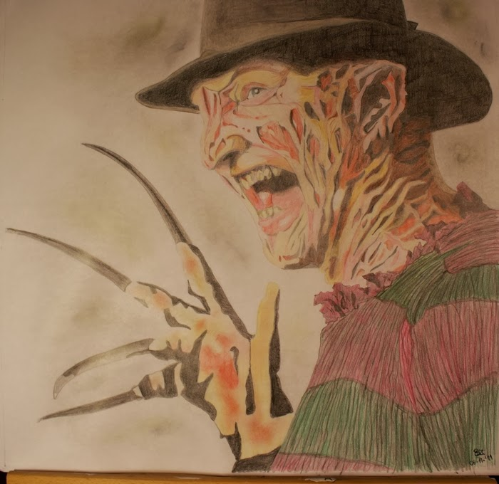 Freddykrueger drawing robertenglund nightmare