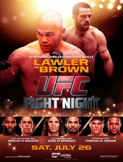 capa Download – UFC Fight Night Lawler vs Brown – HDTV AVI + RMVB ( 2014 )