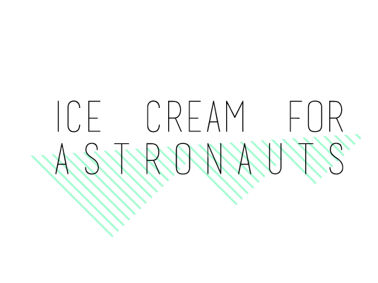 Ice cream for astronauts