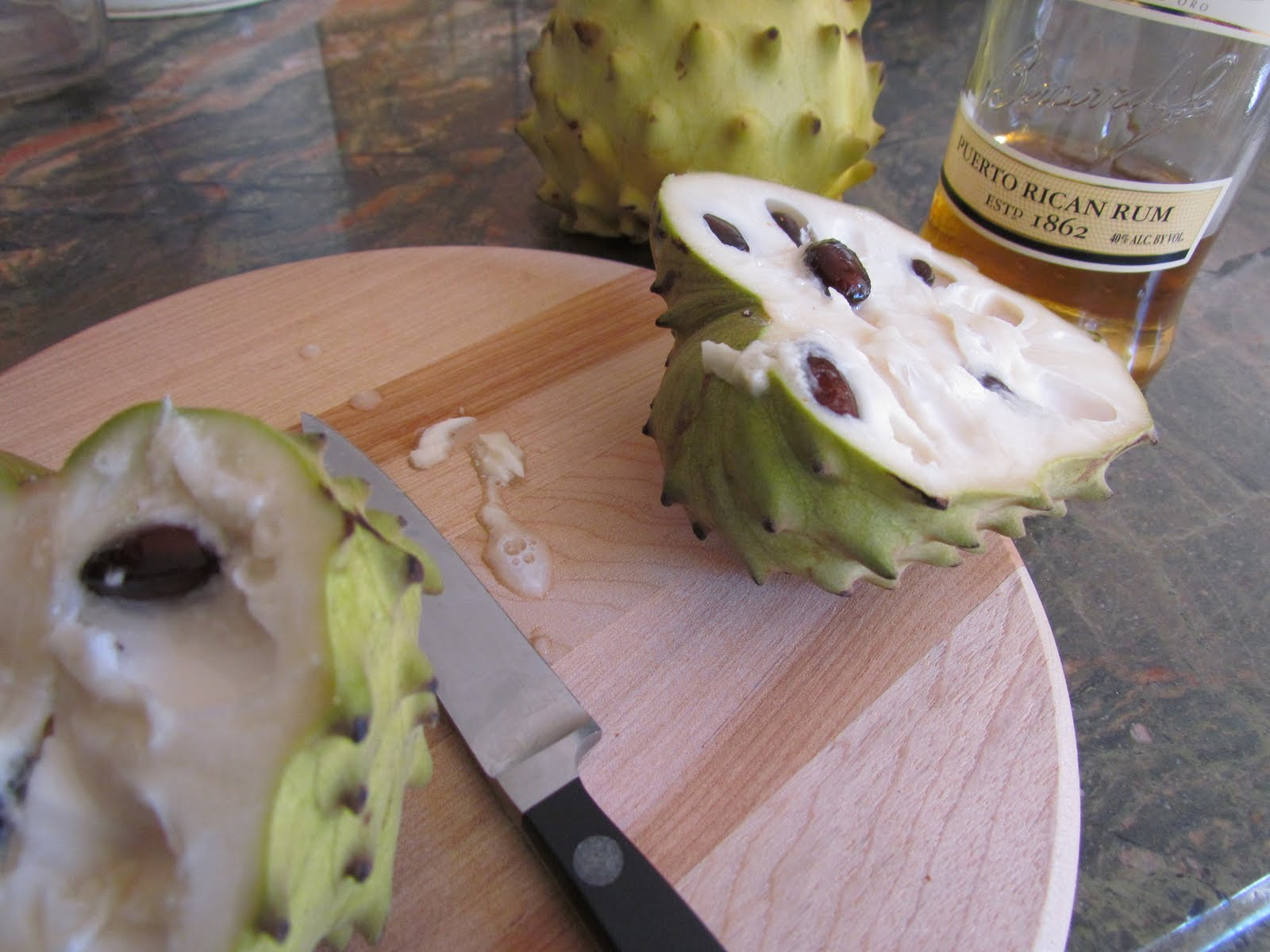 So, technically there's no milk or cream in this... but cherimoya is ...