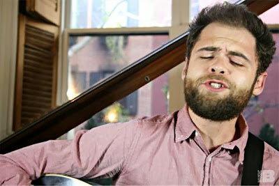 Passenger singing a song with his eyes closed