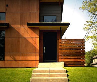 Fachadas de casas fachadas de casas de fraccionamiento for Casas modernas oscuras