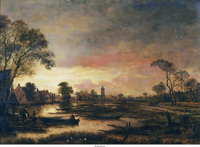 'Landscape at Sunset.' 1650. Photo: Mauritshuis Royal Picture Gallery.