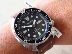SEIKO DIVER NEW TURTLE - SEIKO DIVER SRP777 - BLACK DIAL - BROWN LEATHER STRAP - AUTOMATIC 4R36