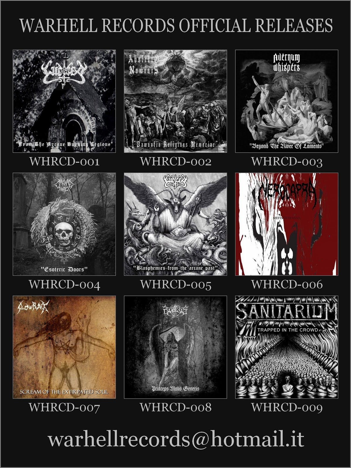 Warhell Records Official Releases