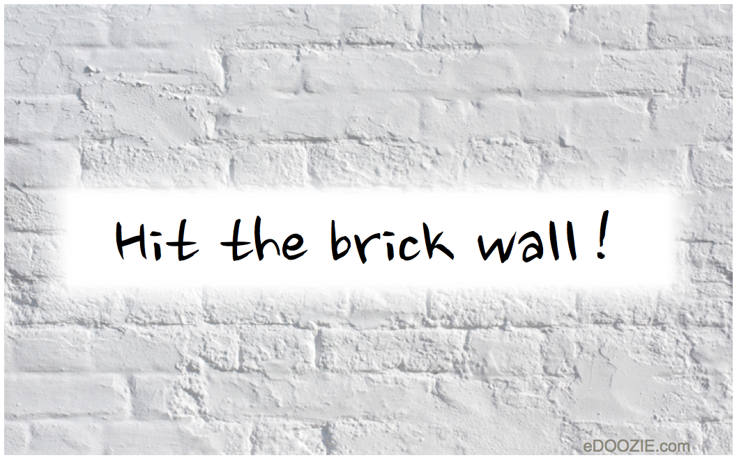 Quotes About Hitting a Brick Wall Hit The Brick Wall