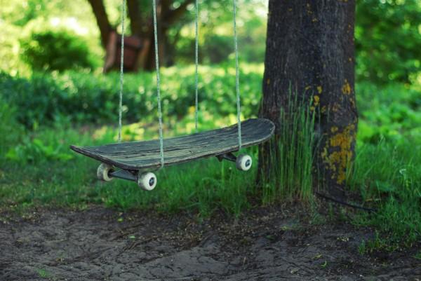 Columpio con skate