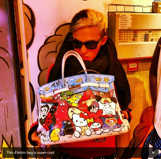 G-Dragon with Birkin Bag Year Zero London