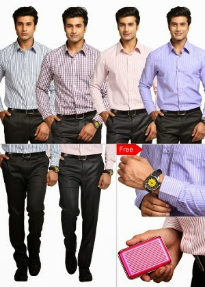 Homeshop18 : Fantastic Formals – 4 Shirtings + 2 Trouser Lengths by BSL at Rs.1399 :Buy To Earn