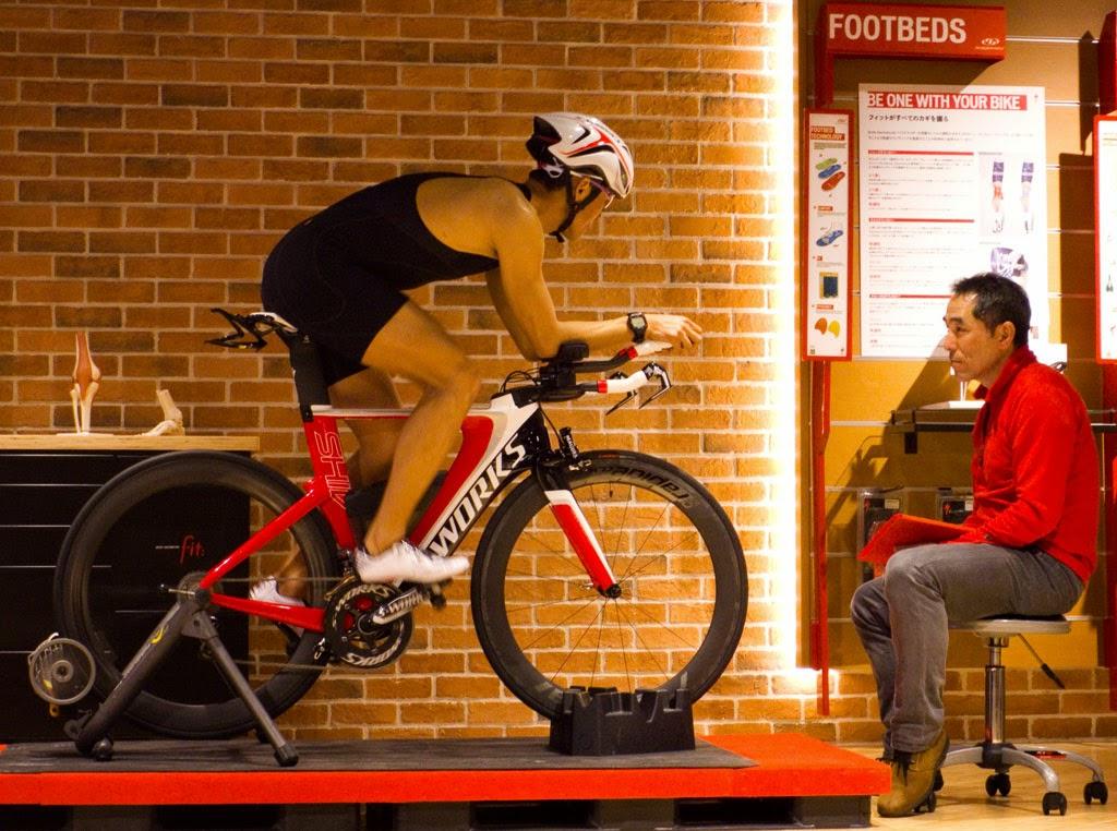 バイクフィットによりポジションの最適化を図る