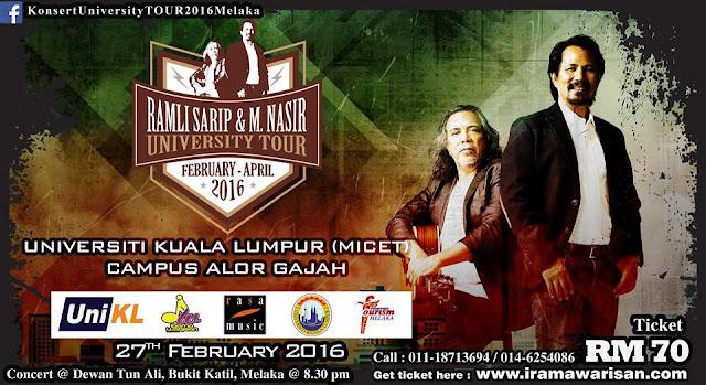 Konsert University Tour 2016 Datuk Ramli Sarip dan Dato' M.Nasir