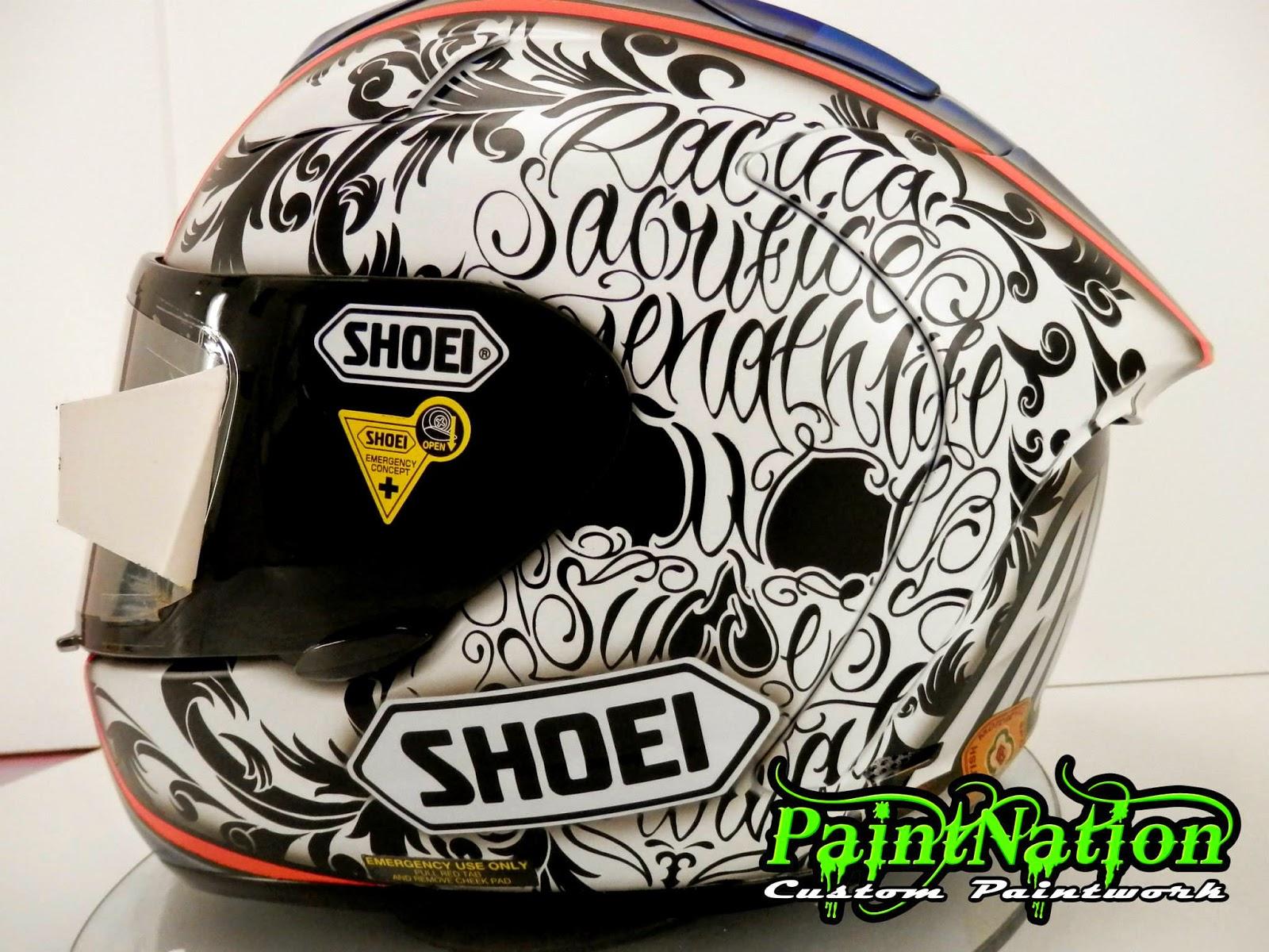 racing helmets garage shoei x spirit ii s andrews 2014 by paintnation. Black Bedroom Furniture Sets. Home Design Ideas