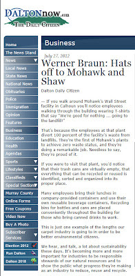 Carpet Sustainability Reports: Shaw and Mohawk