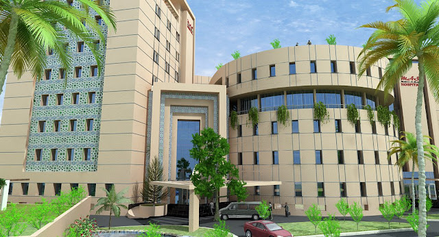 3D Commercial Plaza & Tower Front ELevation