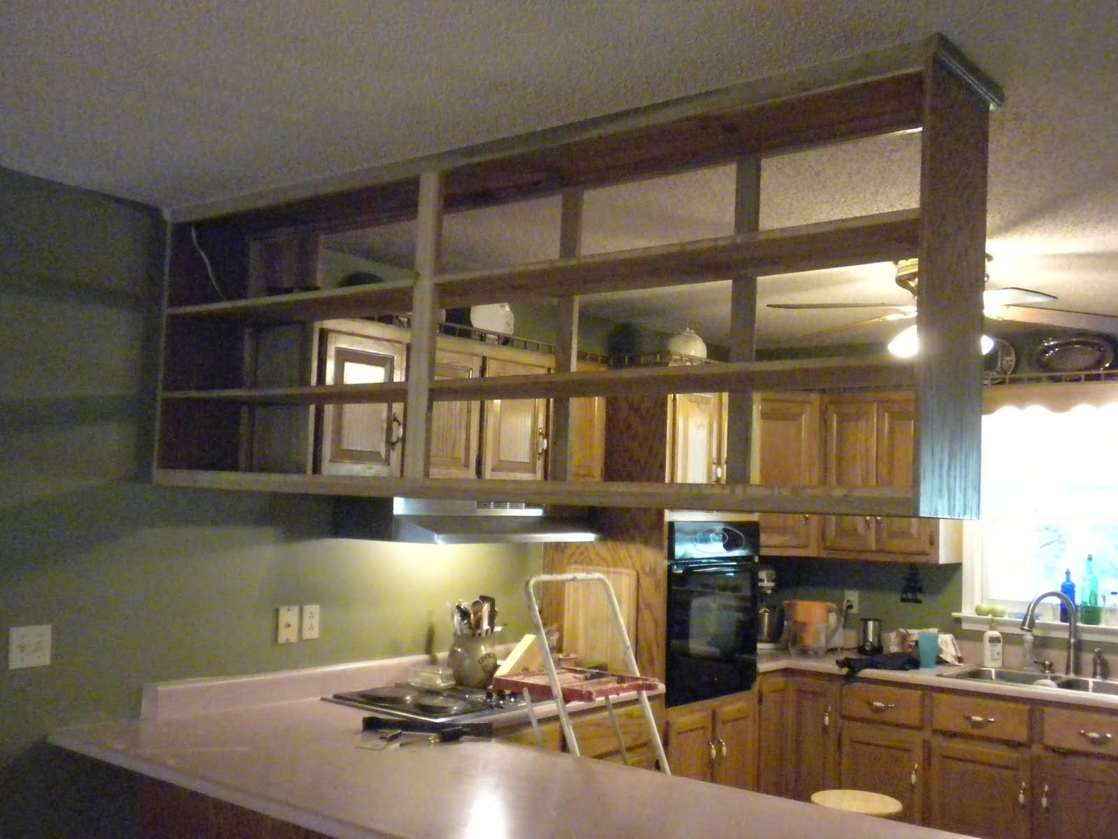 Single Upper Kitchen Cabinet a meek perspective: before & after: upper kitchen cabinet
