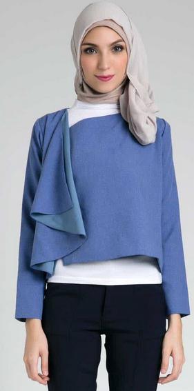 Contoh Baju Kerja Muslim untuk perempuan modis